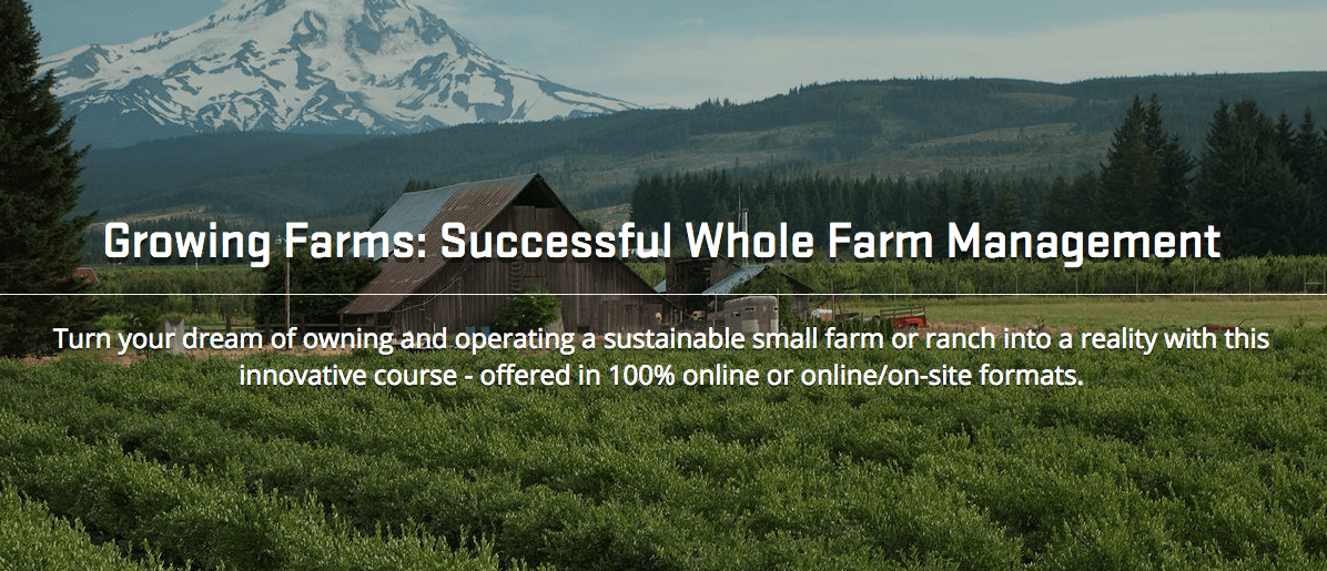 Growing Farms: Successful Whole Farm Management