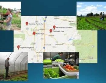 Rainshine Family Farm, Joyful Noise, Turpen Family Farm, White River Duck Farms, Pitchfork & Crow