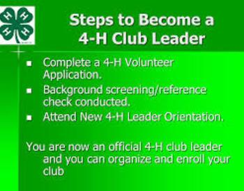 Steps to become a Volunteer Leader in Marion County 4-H