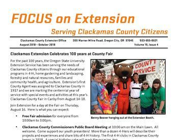 Front page of Focus On Extension, Vol 19, Issue 4