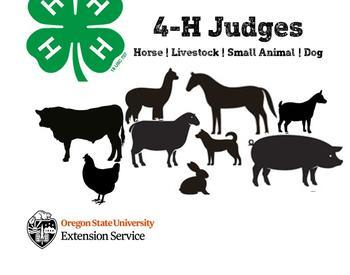 4-H Judges: Horse, Livestock, Small Animal, Dog