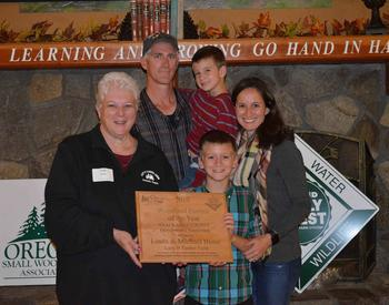 Buser family, Lazy B Timber Farm, Clackamas Woodland Farmer of the Year 2019