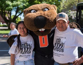estudiante y su padre en Oregon State University