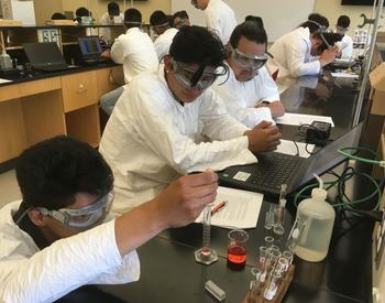students in an Oregon State University chemistry lab