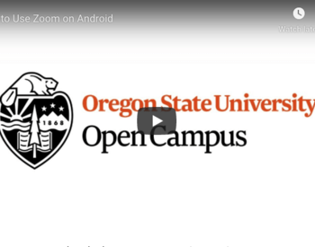 Open Campus: How to Use Zoom on Android video preview