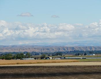 View of farm fields from the Malheur Experiment Station