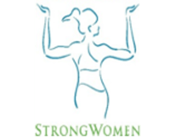StrongWomen, woman flexing back muscles