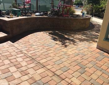 pavers on a patio