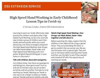 View of High Speed Hand Washing in Early Childhood, Lesson Tips in COVID-19