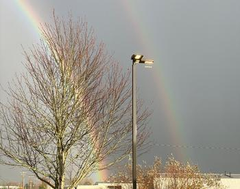 Double rainbow after storm at Linn Extension