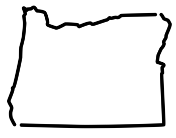 outline of the shape of Oregon