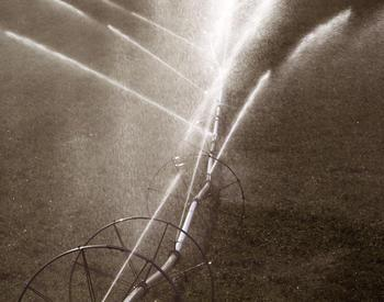 irrigation spraying