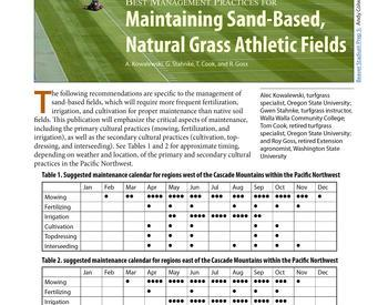 Best Management Practices For Maintaining Sand Based Natural Gr Athletic Fields