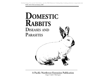 Domestic Rabbits: Diseases and Parasites, PNW 310-E (Oregon