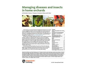 Managing diseases and insects in your home garden pub cover